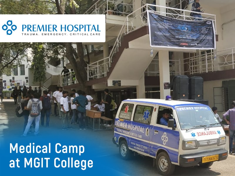 A FREE Medical Camp By Premier Hospital At MGIT College