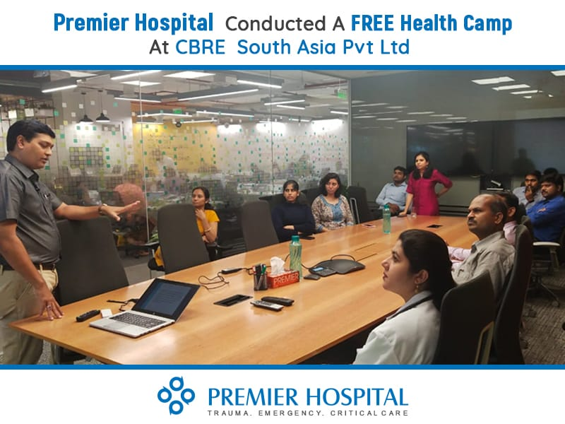 Premier Hospital Conducted A FREE Health Camp At CBRE South Asia Pvt Ltd