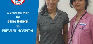 A Courtesy Visit By Saina Nehwal To Premier Hospital