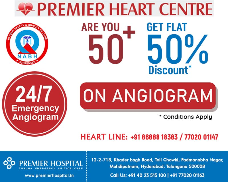 Are You 50+ Then Get Flat 50% Discount On Angiogram