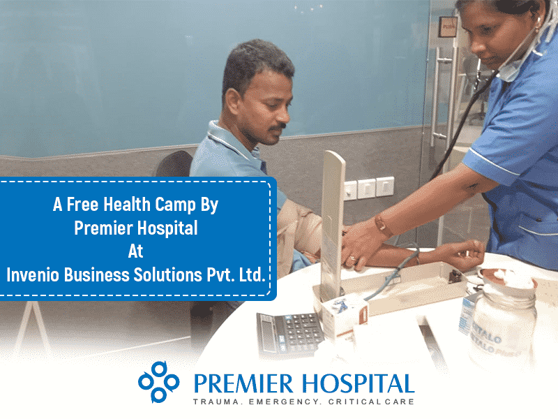 A Free Health Camp By Premier Hospital At Invenio Business Solutions Pvt. Ltd.