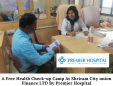 A Free Health Check-up Camp At Shriram City union Finance LTD By Premier Hospital