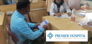 A Free Health Check-up Camp At Shriram City union Finance LTD By Premier Hospital