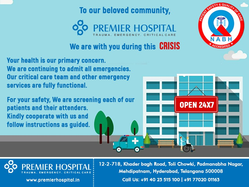 Emergency Services In Premier Hospital Are Available 24/7 Even In The Crisis Of COVID19
